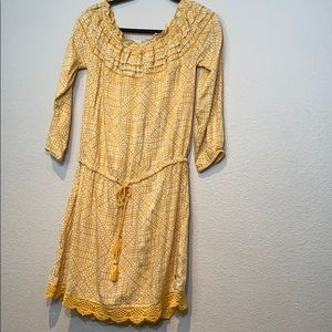 Roxy Off The Shoulder 3/4 Sleeve Dress